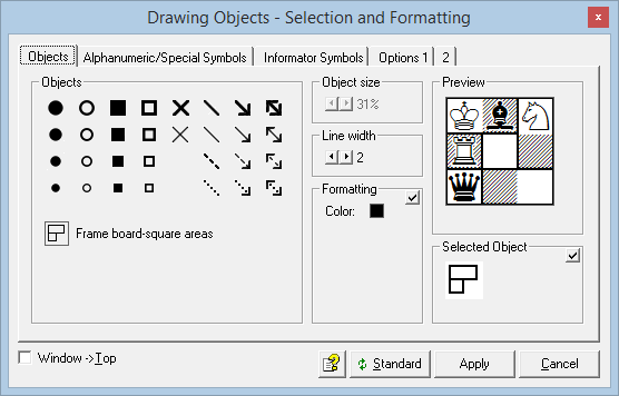 "Drawing objects, Register ""Objects"""